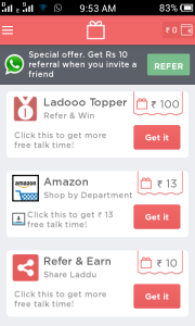 Earn Rs  500/- Free Mobile Recharge with Download Ladoo