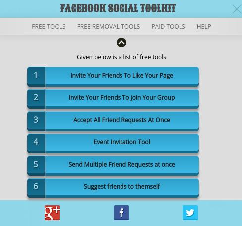 Facebook Friends Suggestion Troller