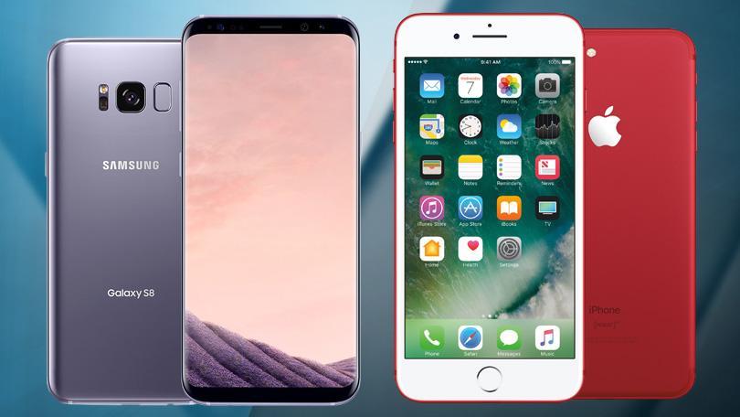 IPhone vs. Samsung Galaxy S9 plus
