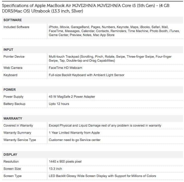 Apple MacBook Air MJVE2HN/A