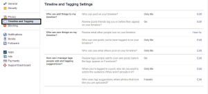 How to Stop People Tagging in Facebook ?