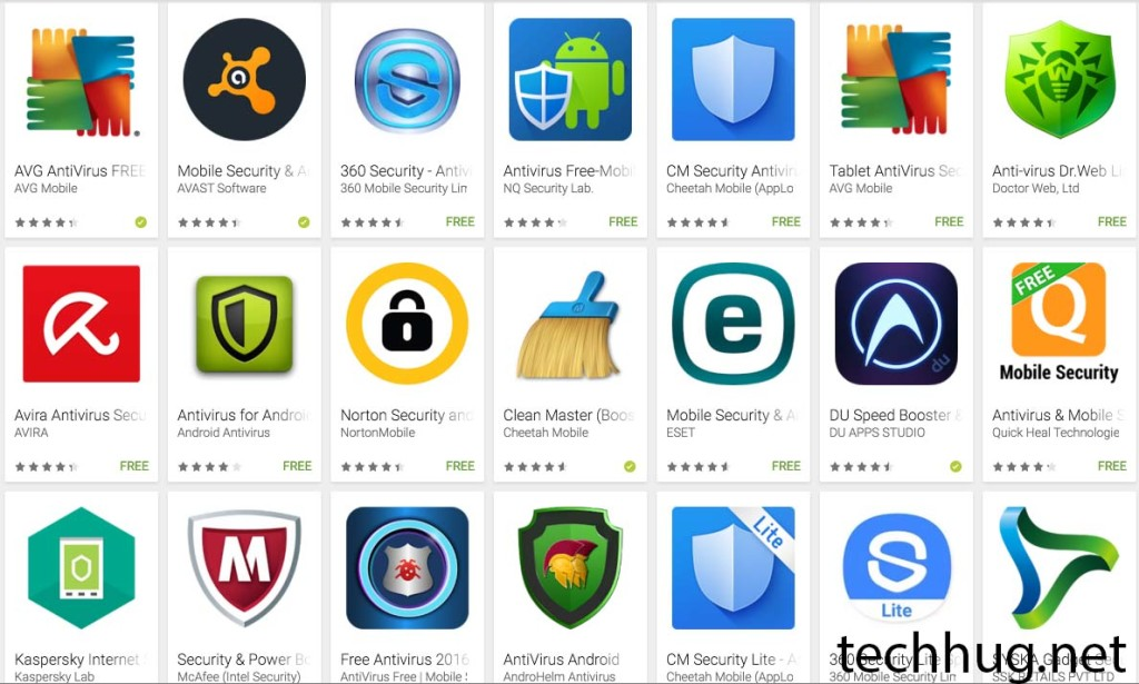 Free Antivirus Apps for Anroid